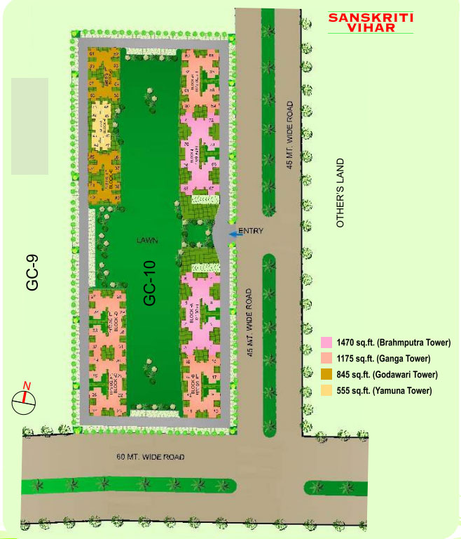 gaur city2 10th avenue site plan