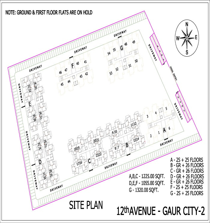 gaur city2 12 avenue site plan