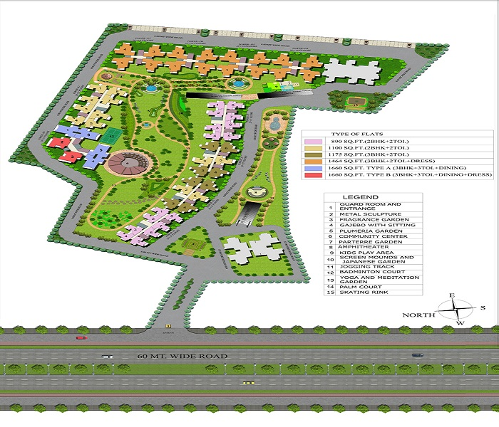 supertech eco village4 site plan