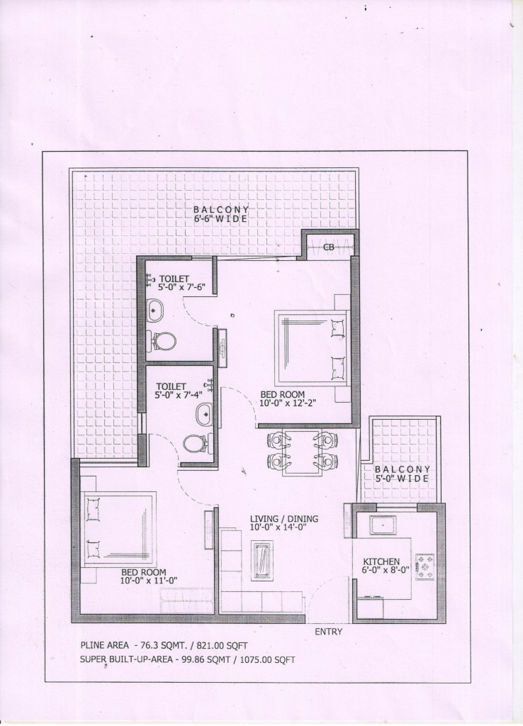 Gaur City 7th avenue floor plan