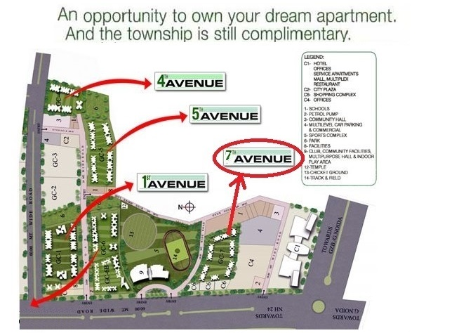Gaur City 7th avenue master plan