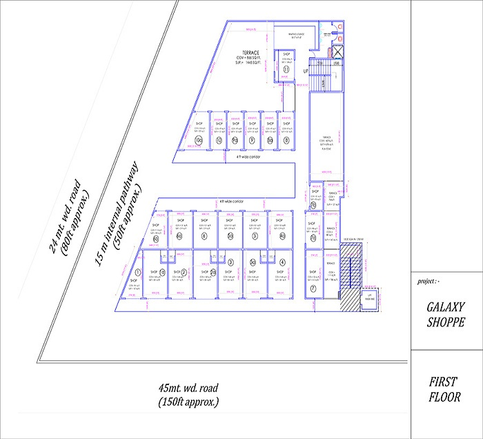 galaxy shoppe floor plan first floor
