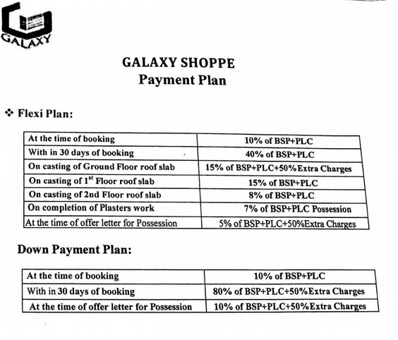 galaxy shoppe payment plan