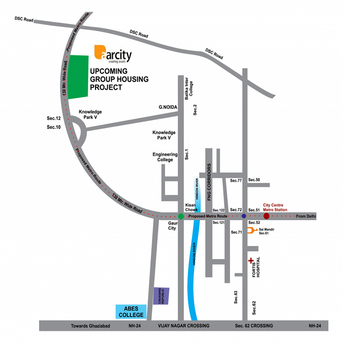 aarcity i foreste location map