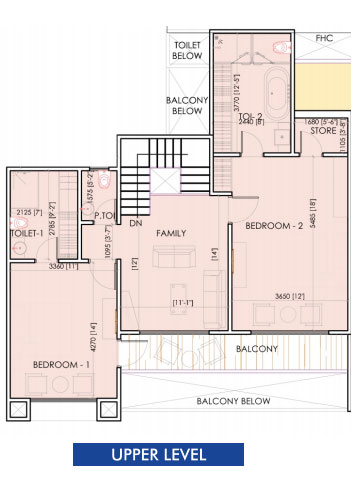 aarcity sky villa floor plan upper level