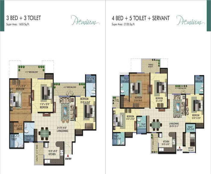 amrapali ivory heights floor plan 3bhk 3toilet 1655 sq.ft