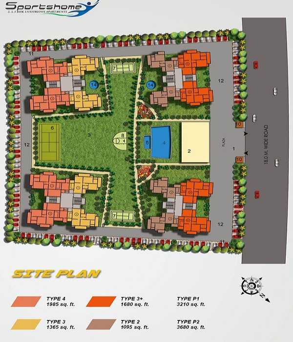 dev sai sports home site plan