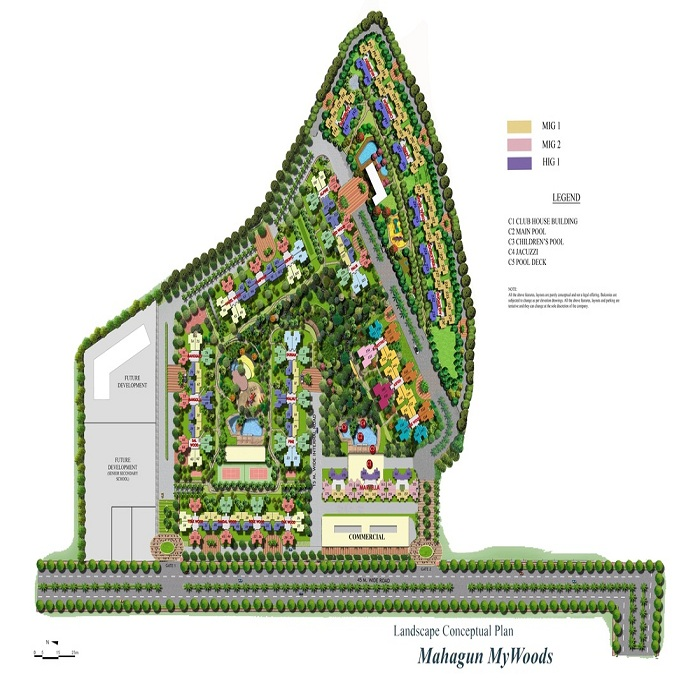 mahagun mywoods marvella site plan