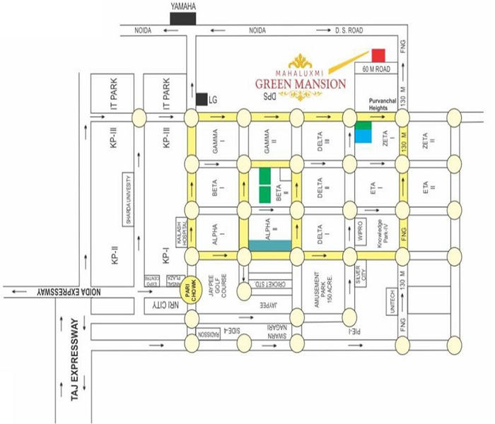 migsun green mansion location map