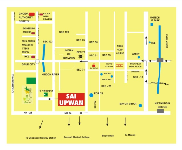 sai upvan location map