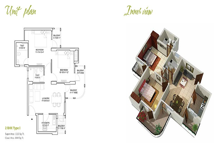 stellar mi citihomes floor plan 2bhk 2toilet 1110 sq.ft