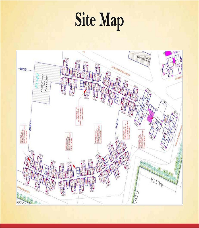 supertech aapka ghar site plan