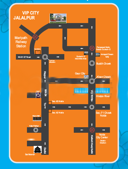 surya vip city location map