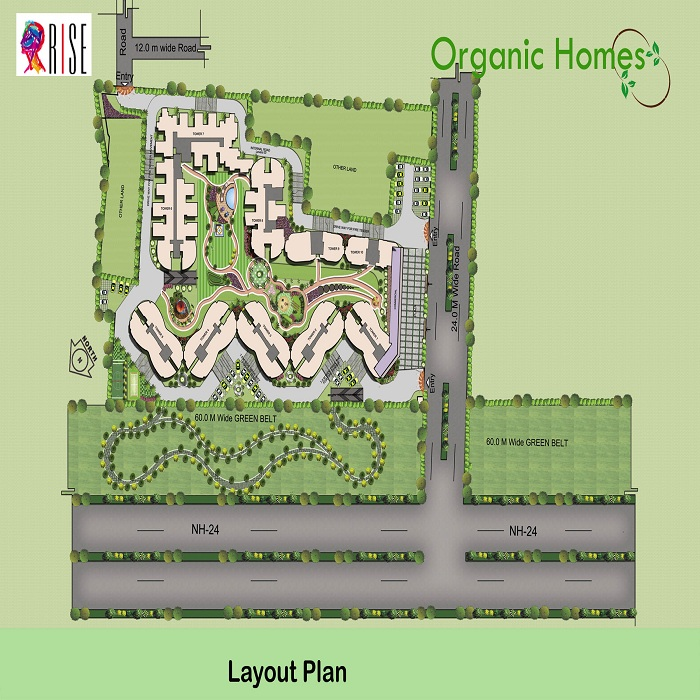 organic homes site plan