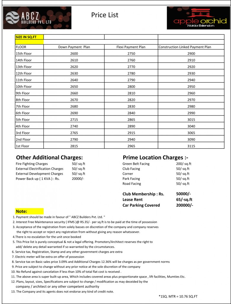 Apple Orchid price list