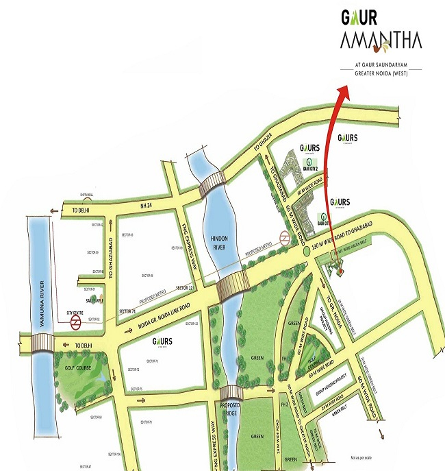gaur amantha location map