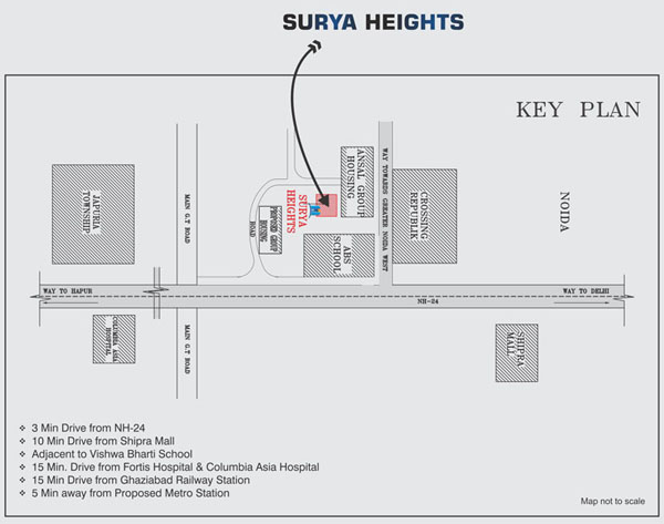 akvs surya heights location map