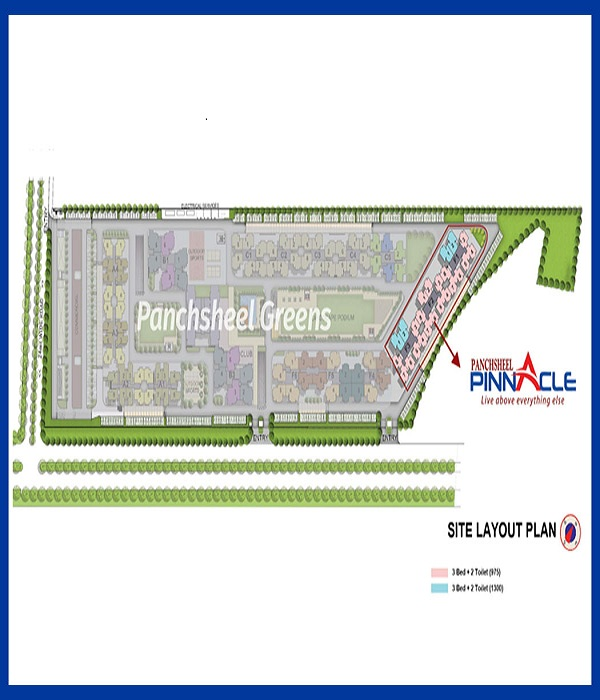 panchsheel pinnacle site plan