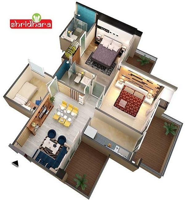 shridhara vega homz floor plan 2bhk 2toilet 1100 sq.ft