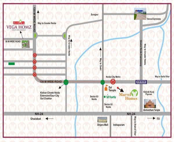 shridhara vega homz location map