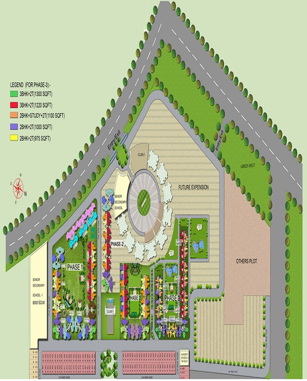 amrapali bollywood towers site plan