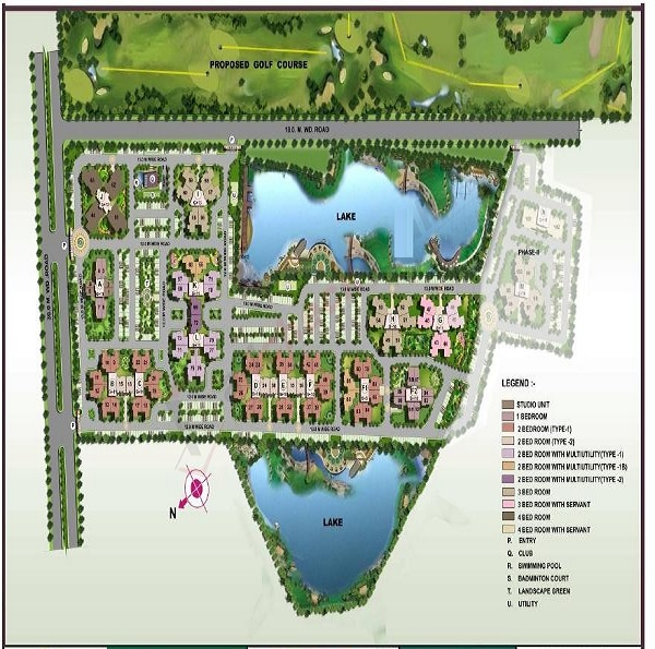 ansal api fairway apartment site plan
