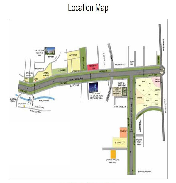 express park view II location map