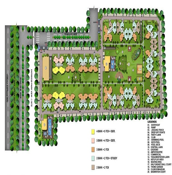 express park view II site plan