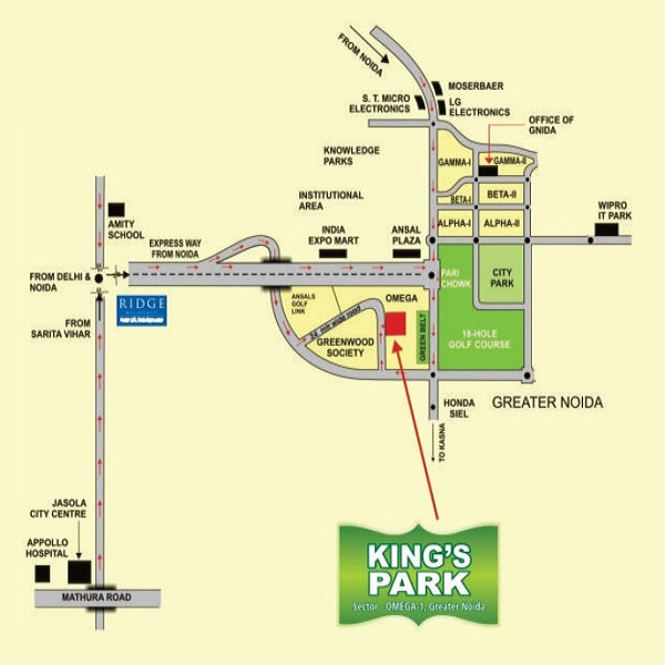 today kings park location map