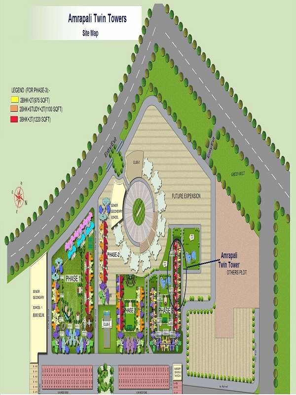 amrapali twin towers site plan