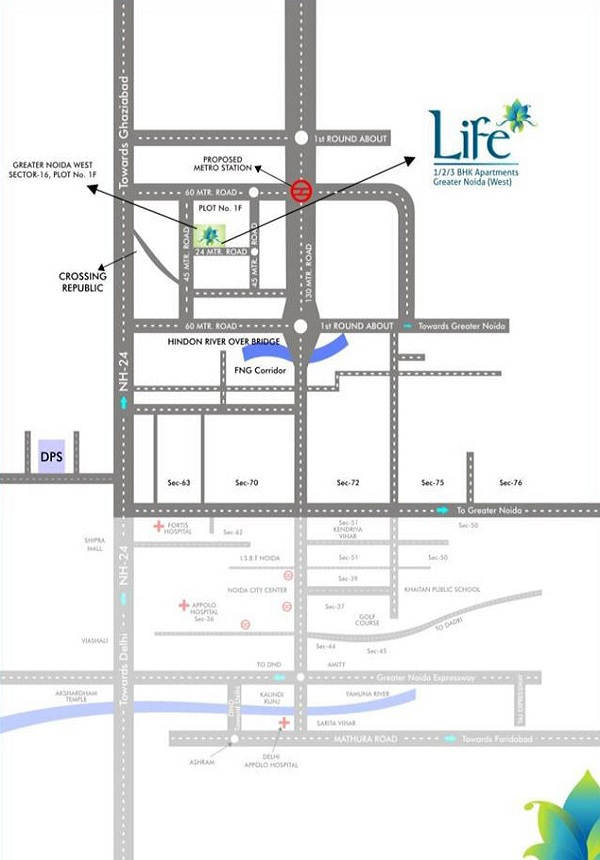 life apartments location map