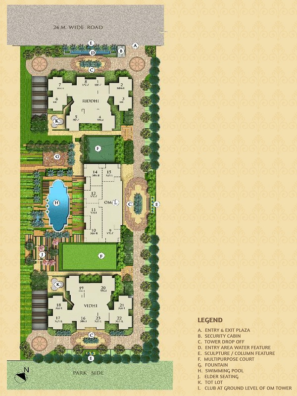 mahagun mantra 1 site plan