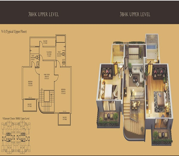 mahagun mantra 2 floor plan 3bhk 2toilet 2600 sq.ft