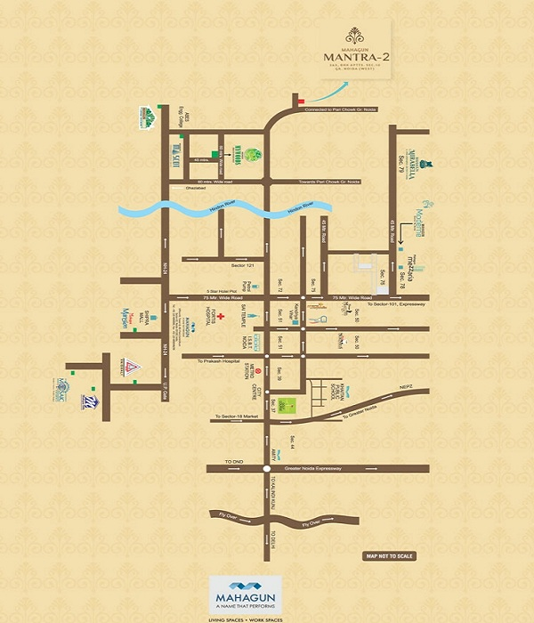 mahagun mantra 2 location map