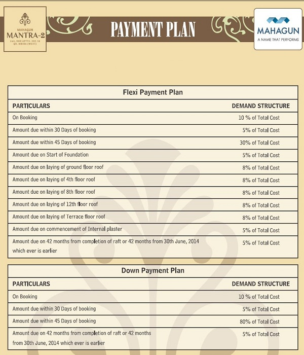 mahagun mantra 2 payment plan
