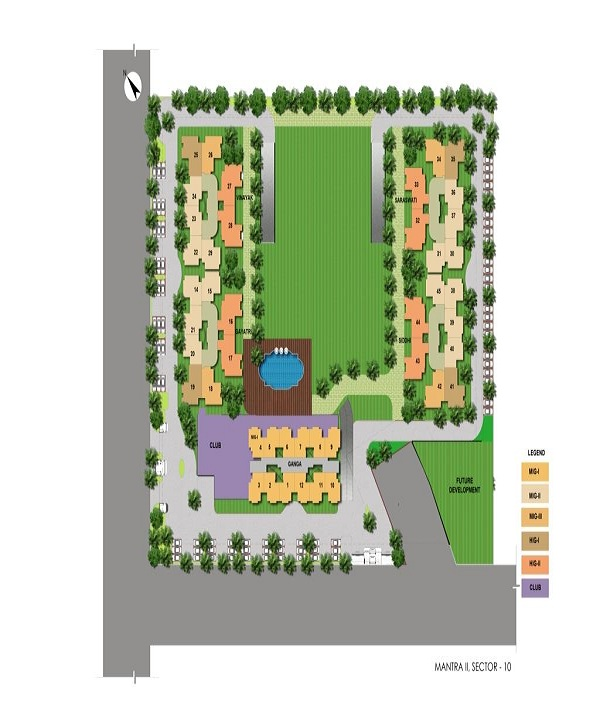 mahagun mantra 2 site plan