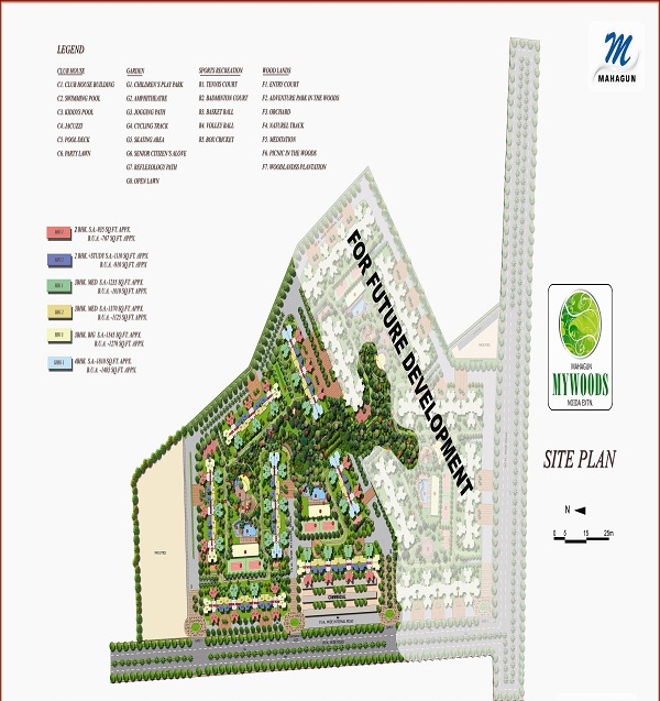 mahagun mywoods phase1 site plan