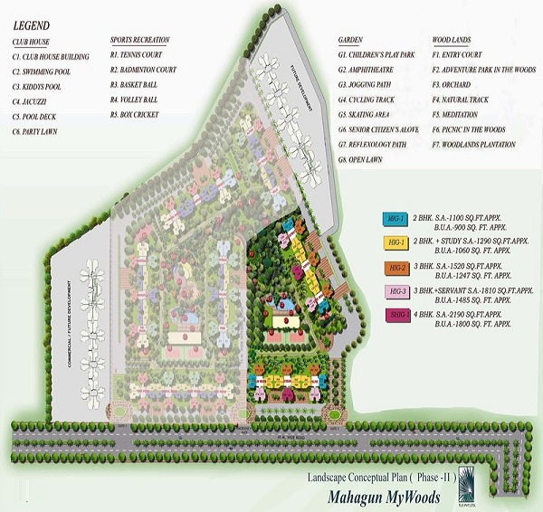 mahagun mywoods phase2 site plan