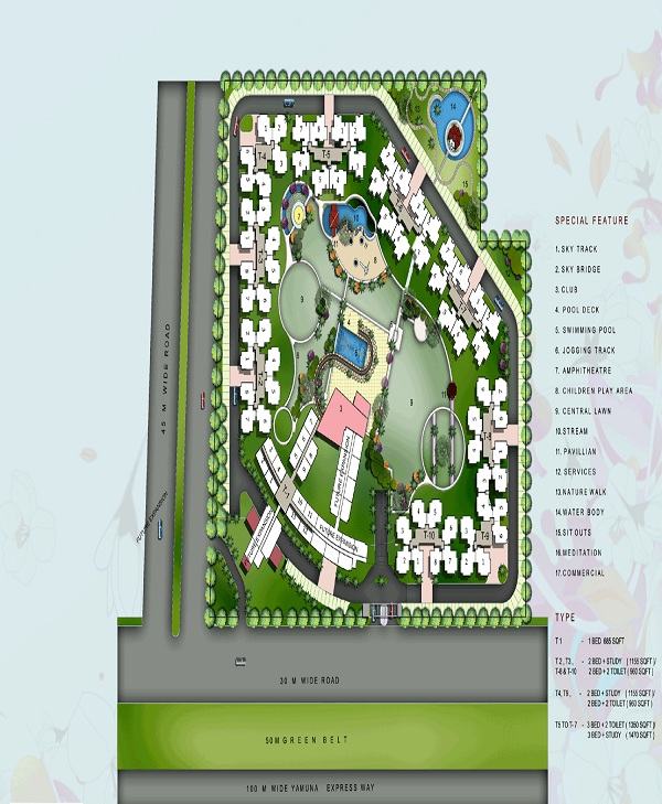 rudra skytracks site plan