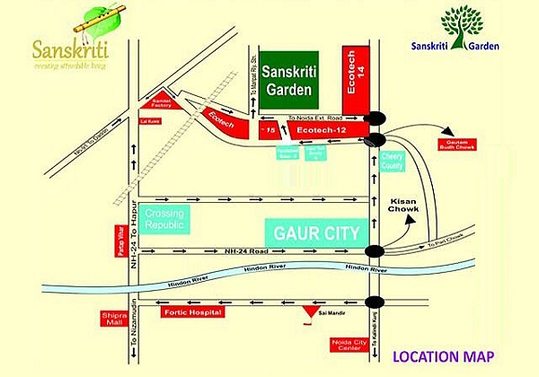 sanskriti garden location map