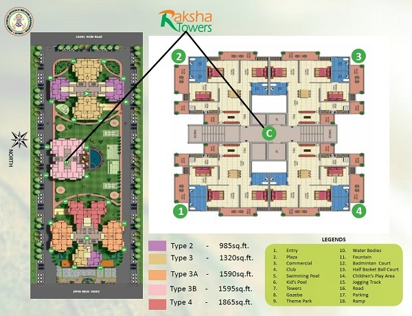 afowo raksha towers site plan