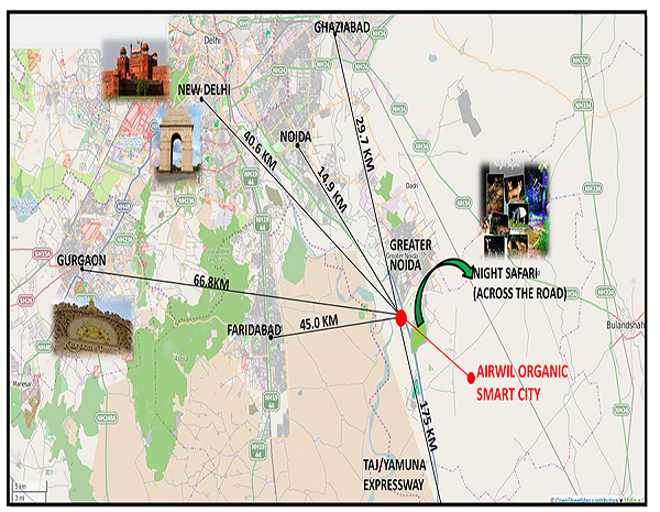 airwil organic smart city location map