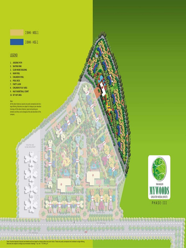 mahagun mywoods phase lll site plan