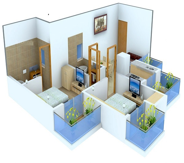 miglani bally hai floor plan 2bhk 2toilet 945 sq.ft