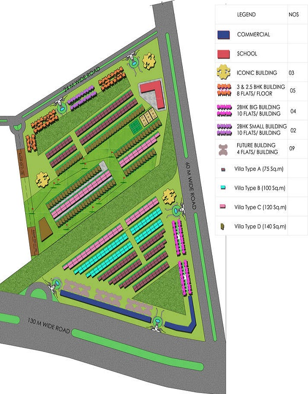 supertech sports city villa iste plan