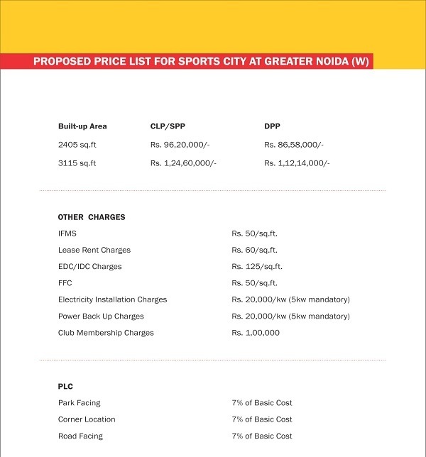 supertech sports city villa price list