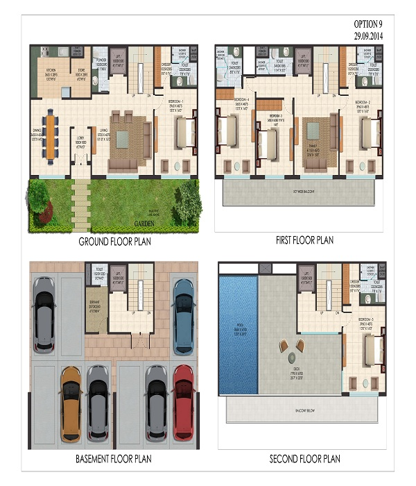 supertech sports city villas floor plan 5bhk 7toilet 1291 sq.ft