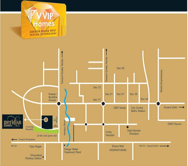 vvip homes meridian towers location map