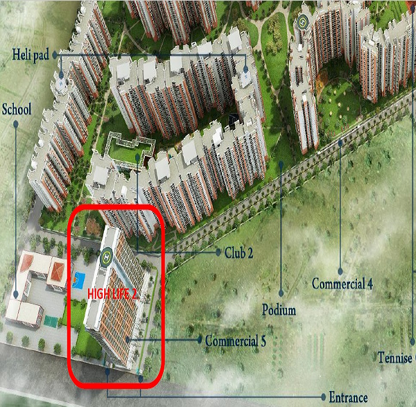 amrapali high life 2 location map