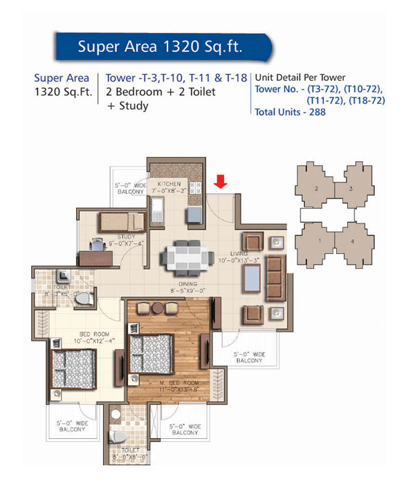 rudra aqua casa floor plan 2bhk 2toilet 1320 sq.ft